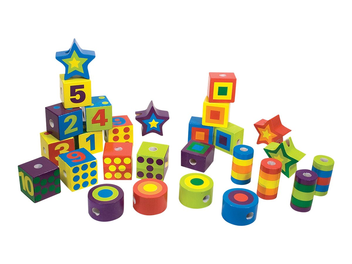 Image for Melissa & Doug - Lacing Beads in a Box - building blocks from Circuit City