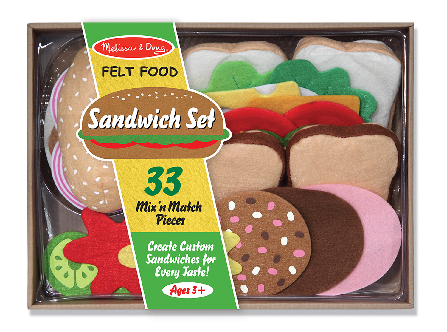 Image for Melissa & Doug - Felt Play Food - Sandwich Set from Circuit City
