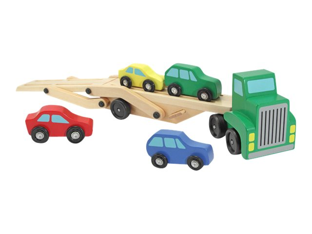Image for Melissa & Doug - Car Carrier Truck & Cars Wooden Toy Set from Circuit City