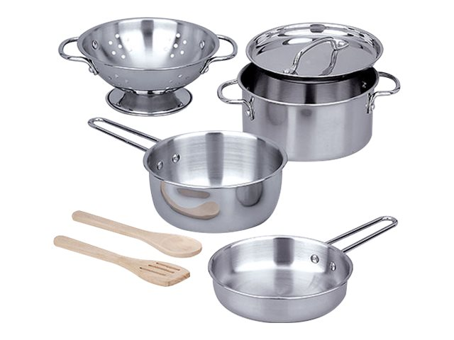 Image for Melissa & Doug Let's Play House! - Stainless Steel Pots & Pans Play Set from Circuit City