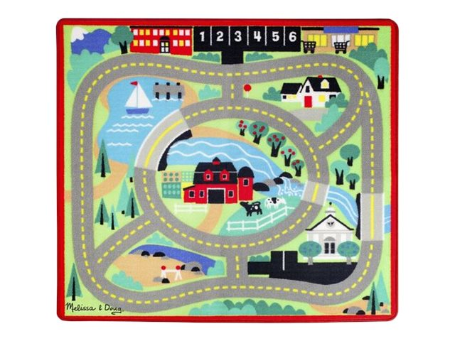 Image for Melissa & Doug - Round the Town Road Rug & Car Set from Circuit City
