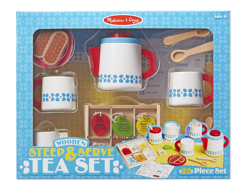 Image for Melissa & Doug Wooden Steep & Serve Tea Set - Steep & Serve Tea Set from Circuit City