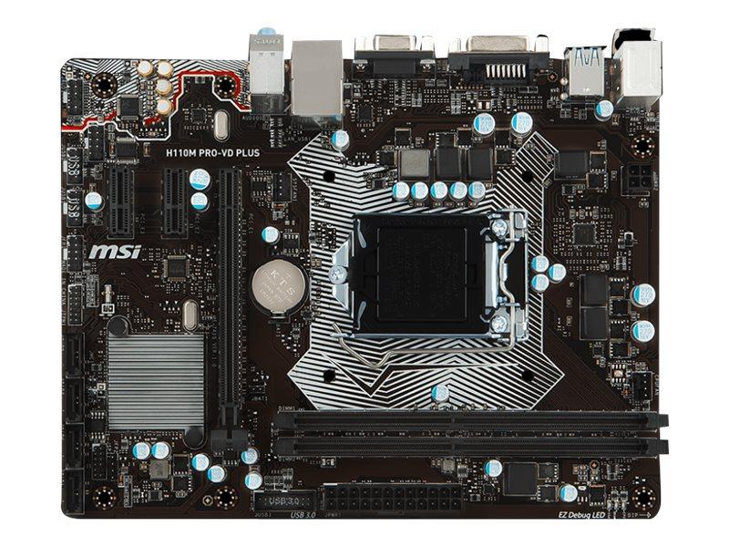Image for Msi - Motherboard - Micro Atx - Lga1151 Socket - H110 from Circuit City