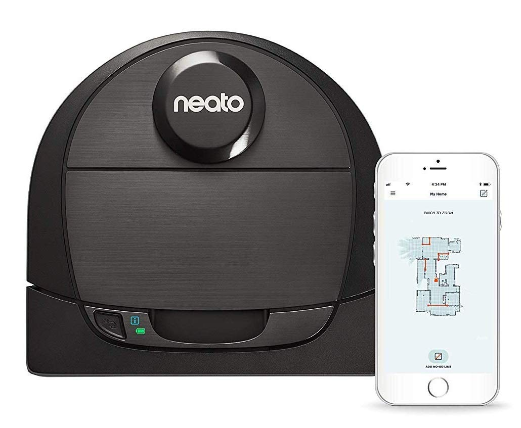 Image for Neato Robotics - Neato Botvac D6 Connected App-Controlled Robot Vacuum - Black from Circuit City