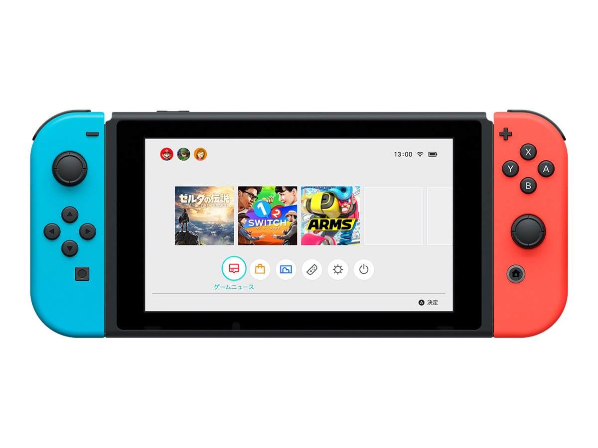 Image for Switch with Neon Blue and Neon Red Joy-Con - game console - 32 GB flash - black, neon red, neon blue from Circuit City