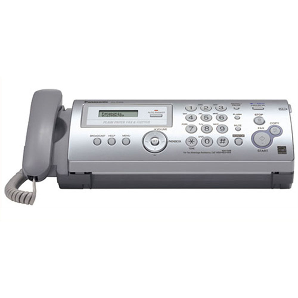 Panasonic Plain Paper Fax/Copier, Ultra-Compact Design,Out Of-Paper Rec.Up To 24Pg