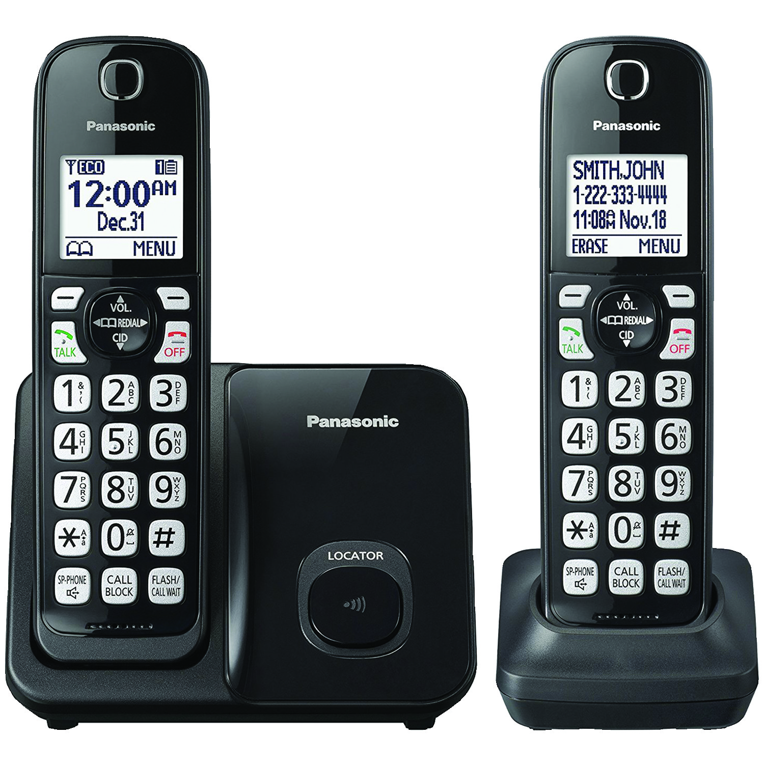 Panasonic Cordless Phone With Caller Id Call Waiting Additional Circuit Image For Handset From