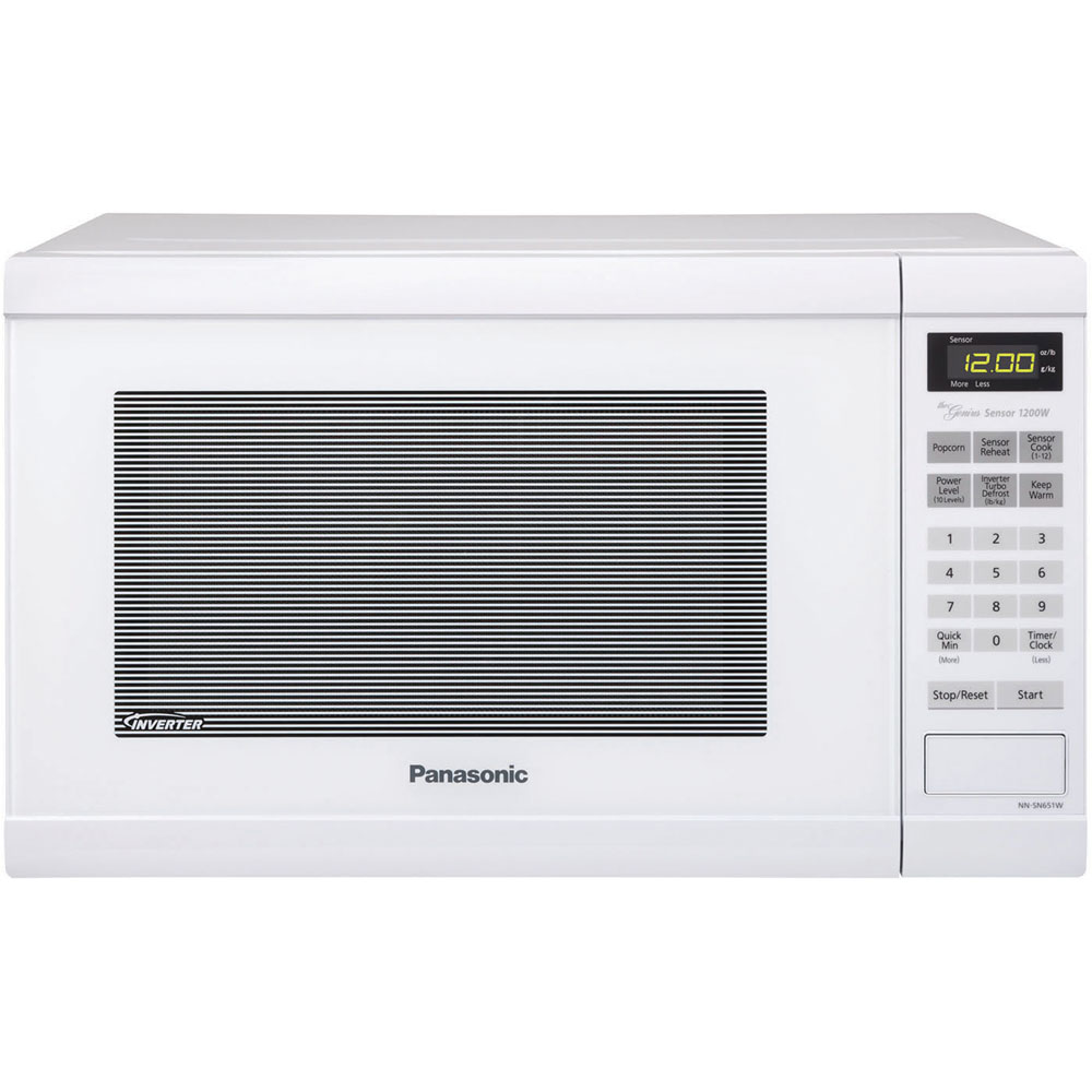 Panasonic 1.2 Cu. Ft. Countertop Microwave Oven With Inverter Technology, White