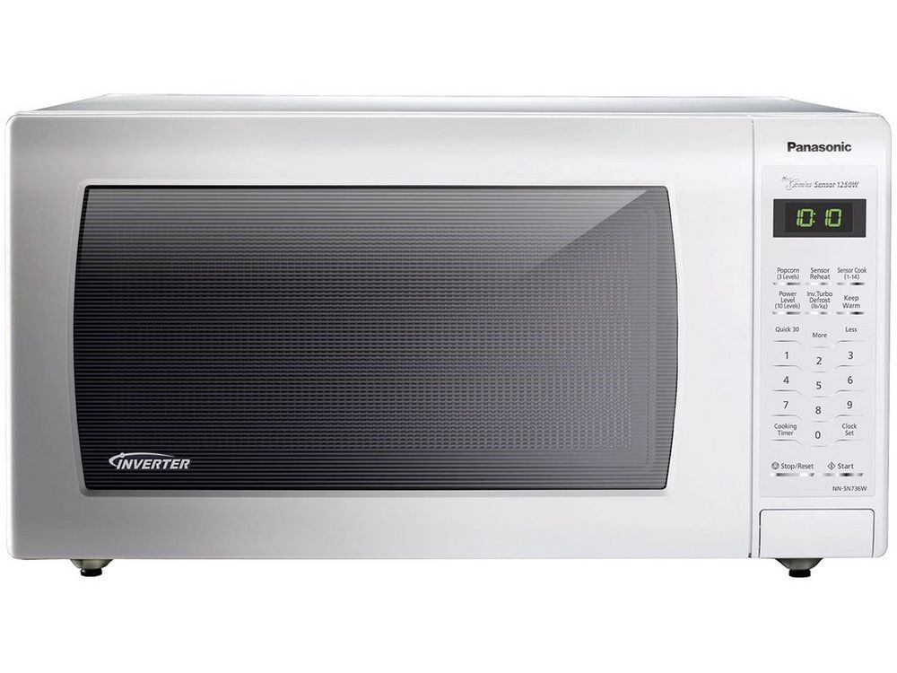Image for Panasonic 1.6 Cu. Ft. Countertop Microwave Oven With Inverter Technology, White from Circuit City
