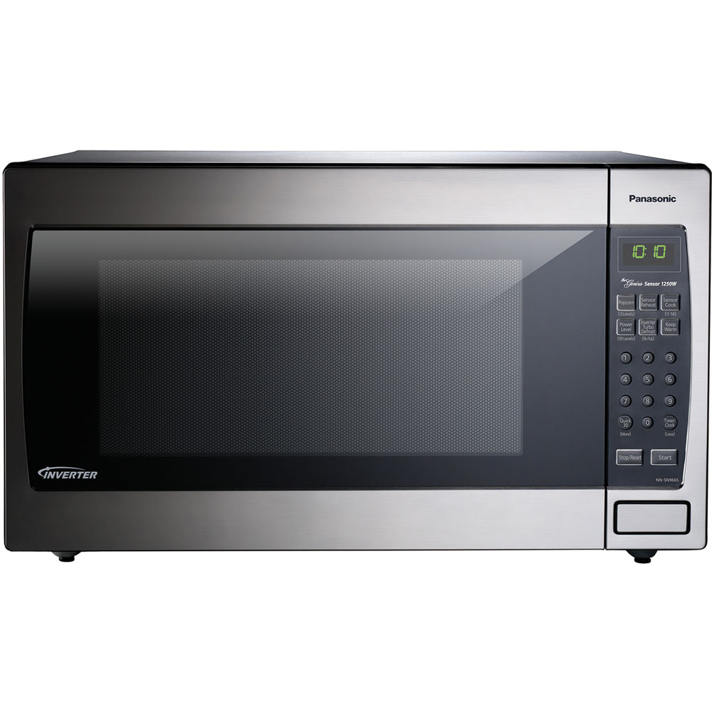 Image for Panasonic 1250W, 2.2 Cu Ft. Sensor, Stainless Front & Silver Body, Flat P from Circuit City