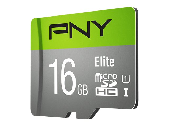Image for PNY Elite Performance - Flash memory card (microSDHC to SD adapter included) - 16 GB - UHS-I U1 / Class10 - microSDHC UHS-I from Circuit City
