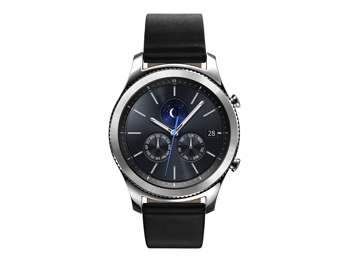 Image for Samsung Gear S3 Classic - Silver - Smart Watch With Band - Black - 4 Gb - Verizon Wireless from Circuit City