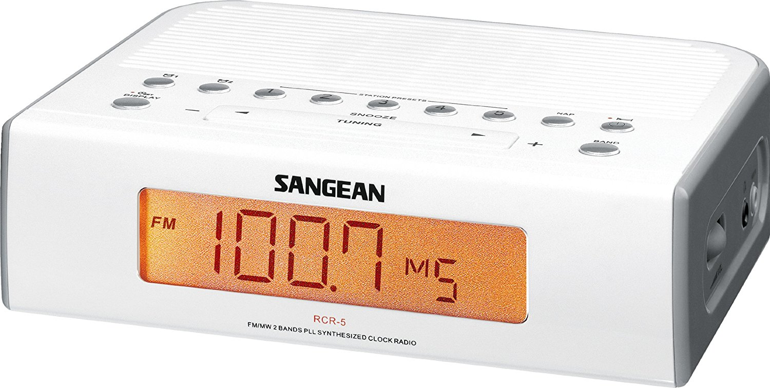 Image for Sangean Fm / Am Digital Tuning Clock Radio  - White from Circuit City