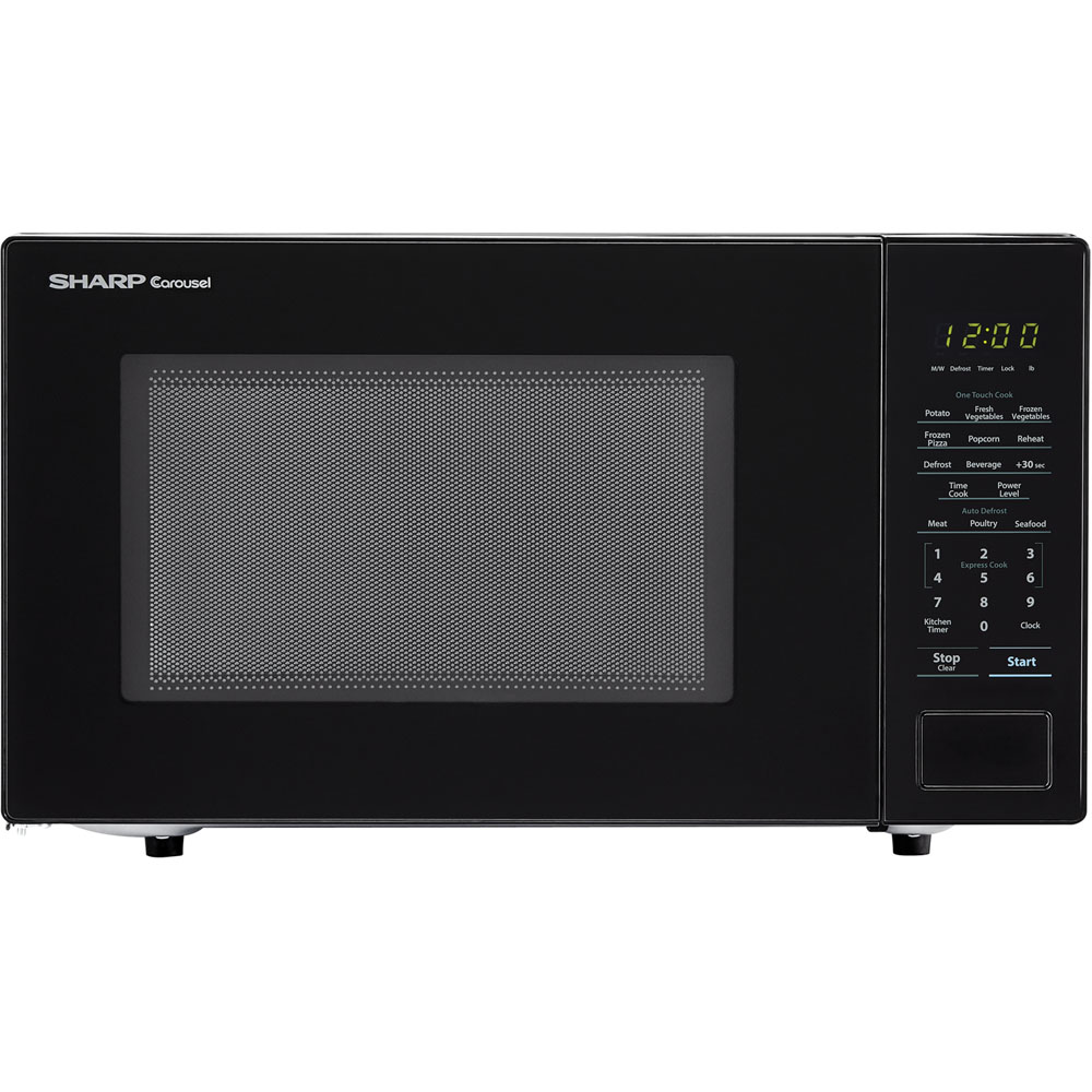 Sharp Carousel Microwave Oven Freestanding Black Circuit Image For From City