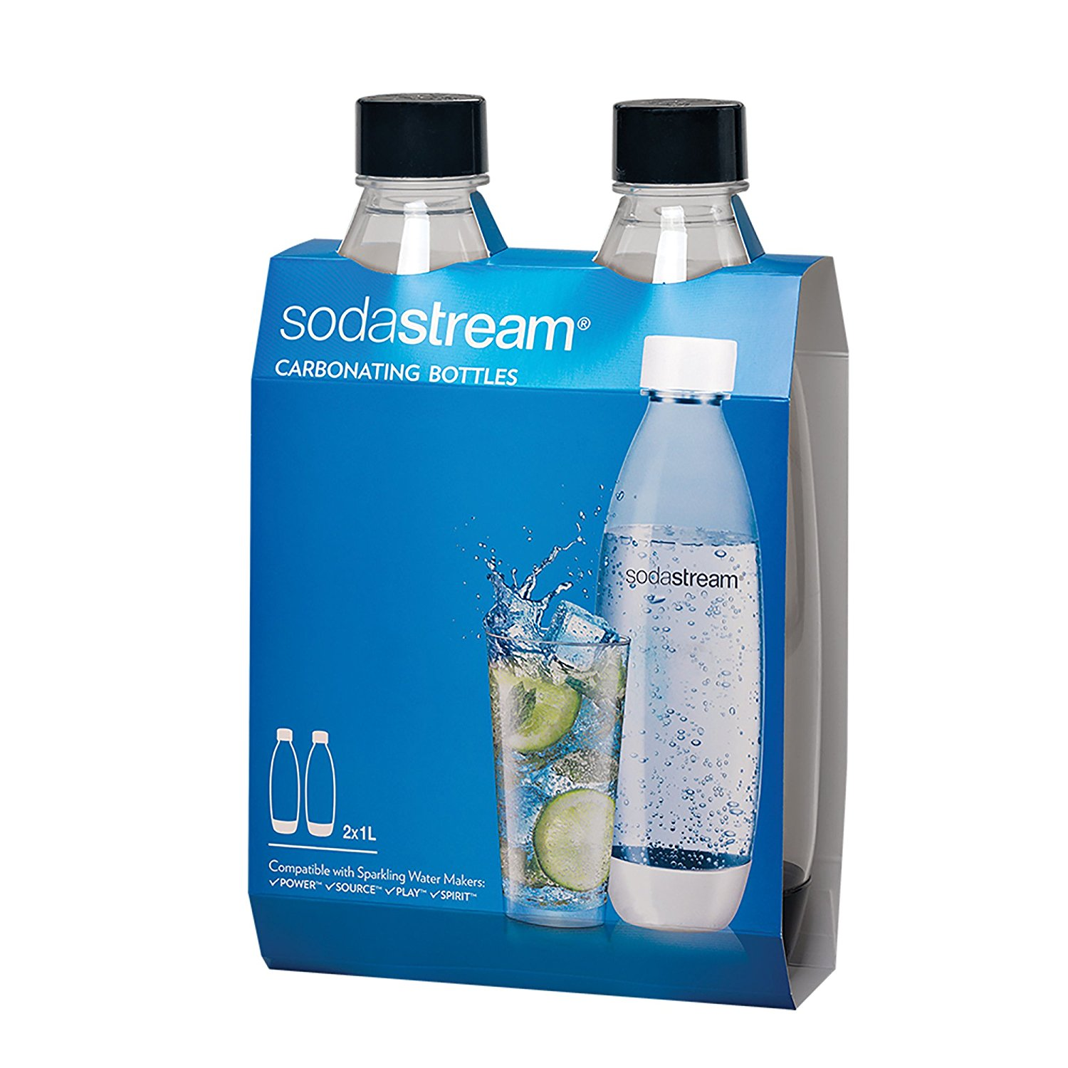 Image for Sodastream Source Twinpack Carbonating Bottle, 1L, White from Circuit City