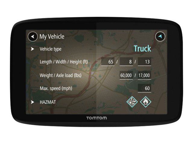 Image for TomTom TRUCKER 520 - Lifetime Traffic & Maps Edition - GPS navigator from Circuit City