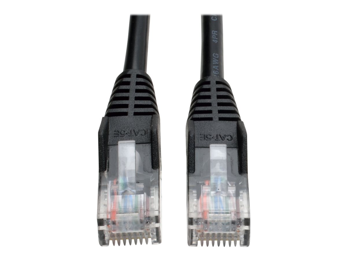 Image for Tripp Lite 3Ft Cat5E / Cat5 Snagless Molded Patch Cable Rj45 M/M Black 3' - Patch Cable - 3 Ft - Black from Circuit City