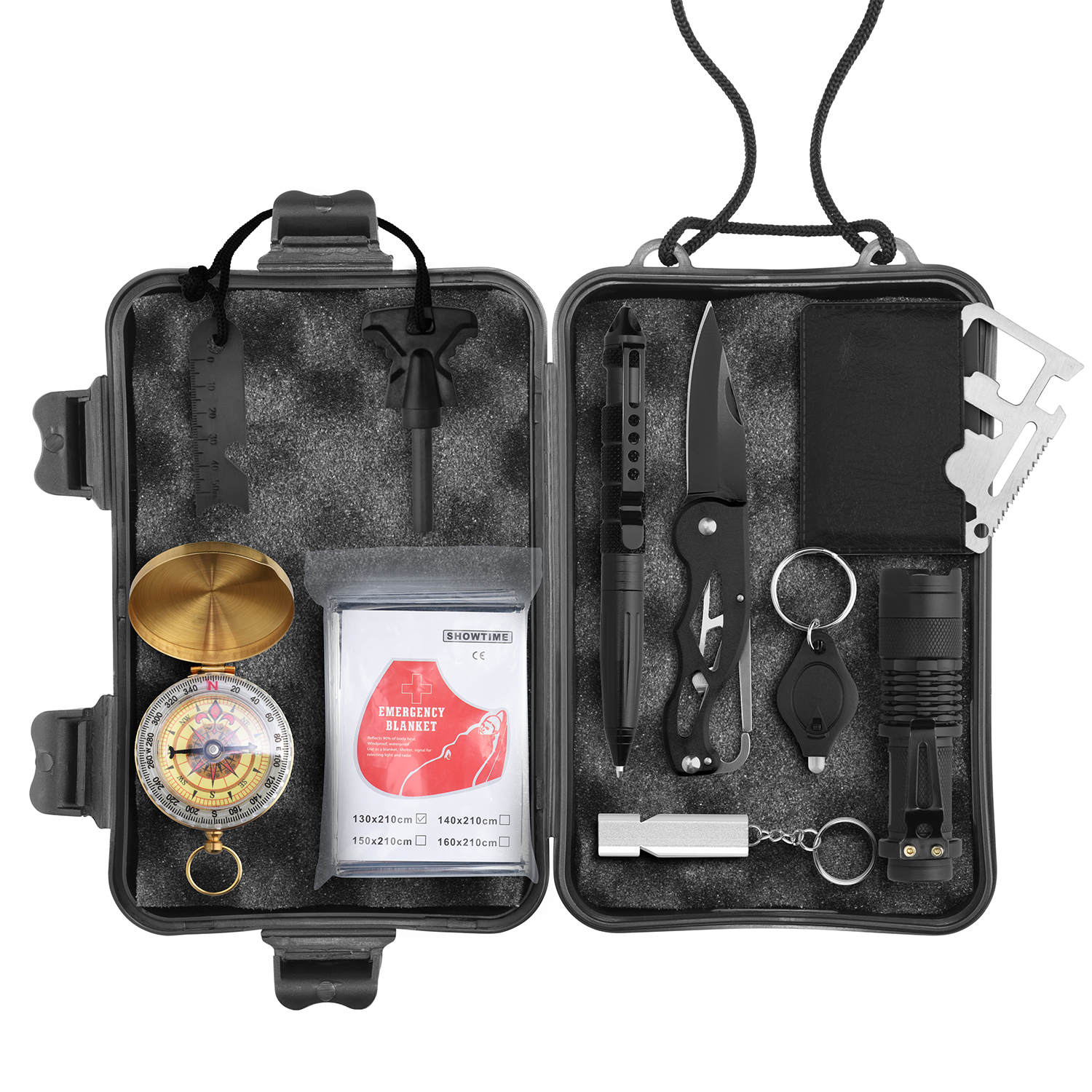 Image for Wild Peak PREPARE-1 Survival Tool Kit for Camping Gear, Hiking, Climbing, Fishing, Hunting, Backpacks from Circuit City