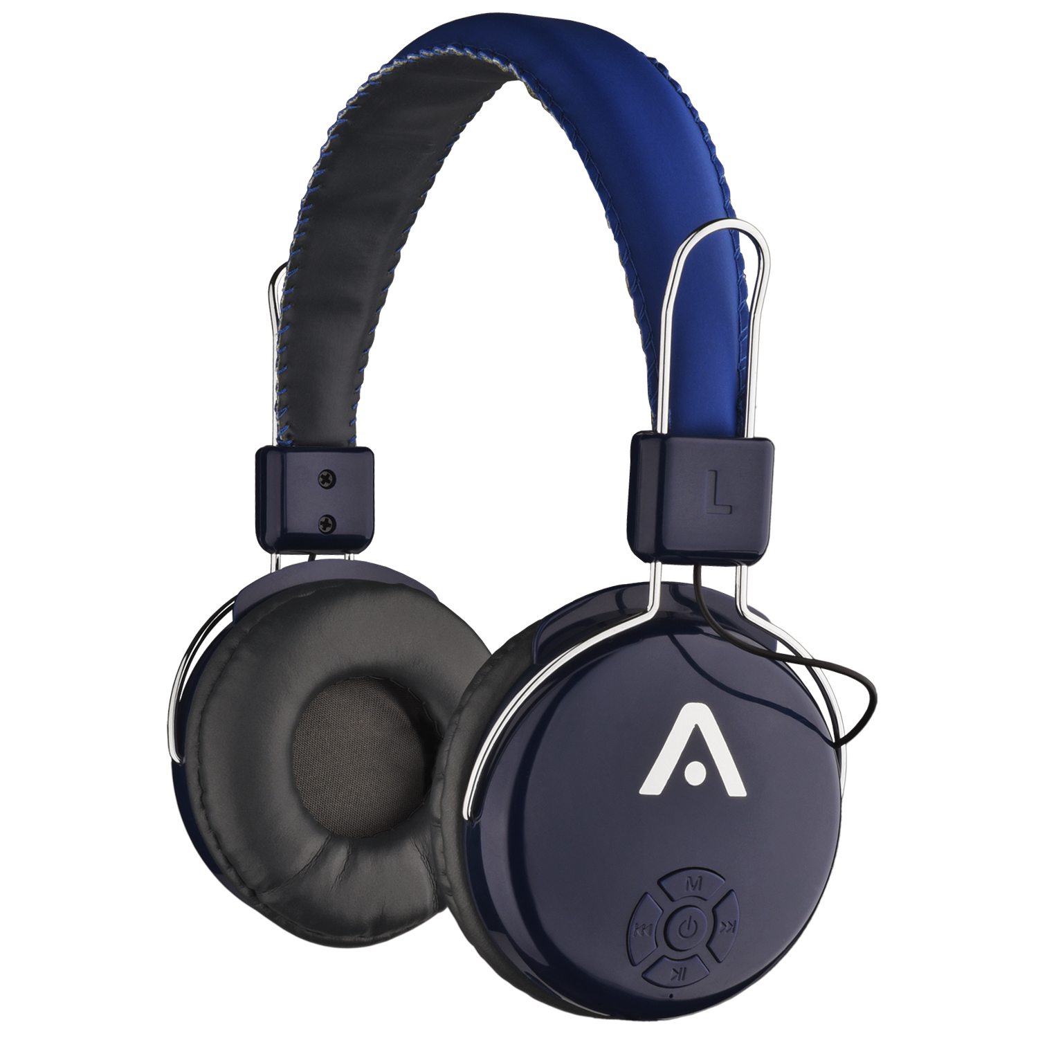 Image for Audiomate A21 Wireless Bluetooth Headphones - Black / Blue from Circuit City