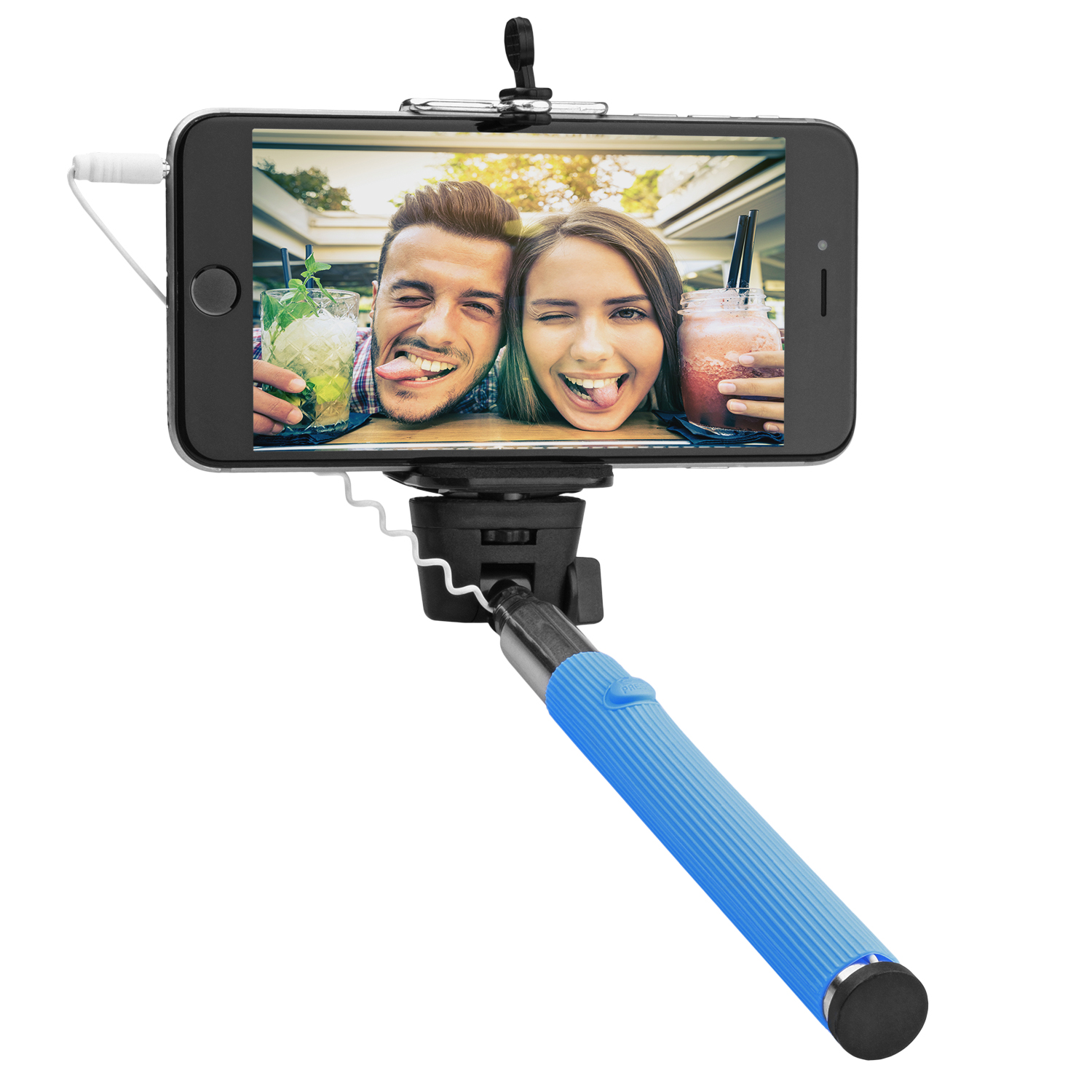 Image for Circuit City Cable Selfie Stick For All Ios And Android Smart Phones - Blue from Circuit City