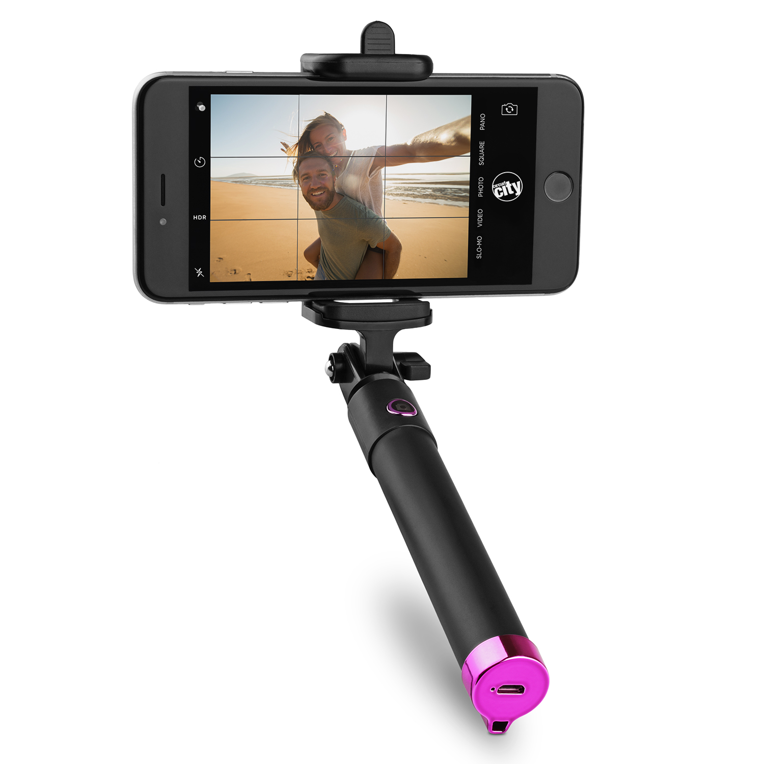 Image for Circuit City Bluetooth Selfie Stick - Pink from Circuit City