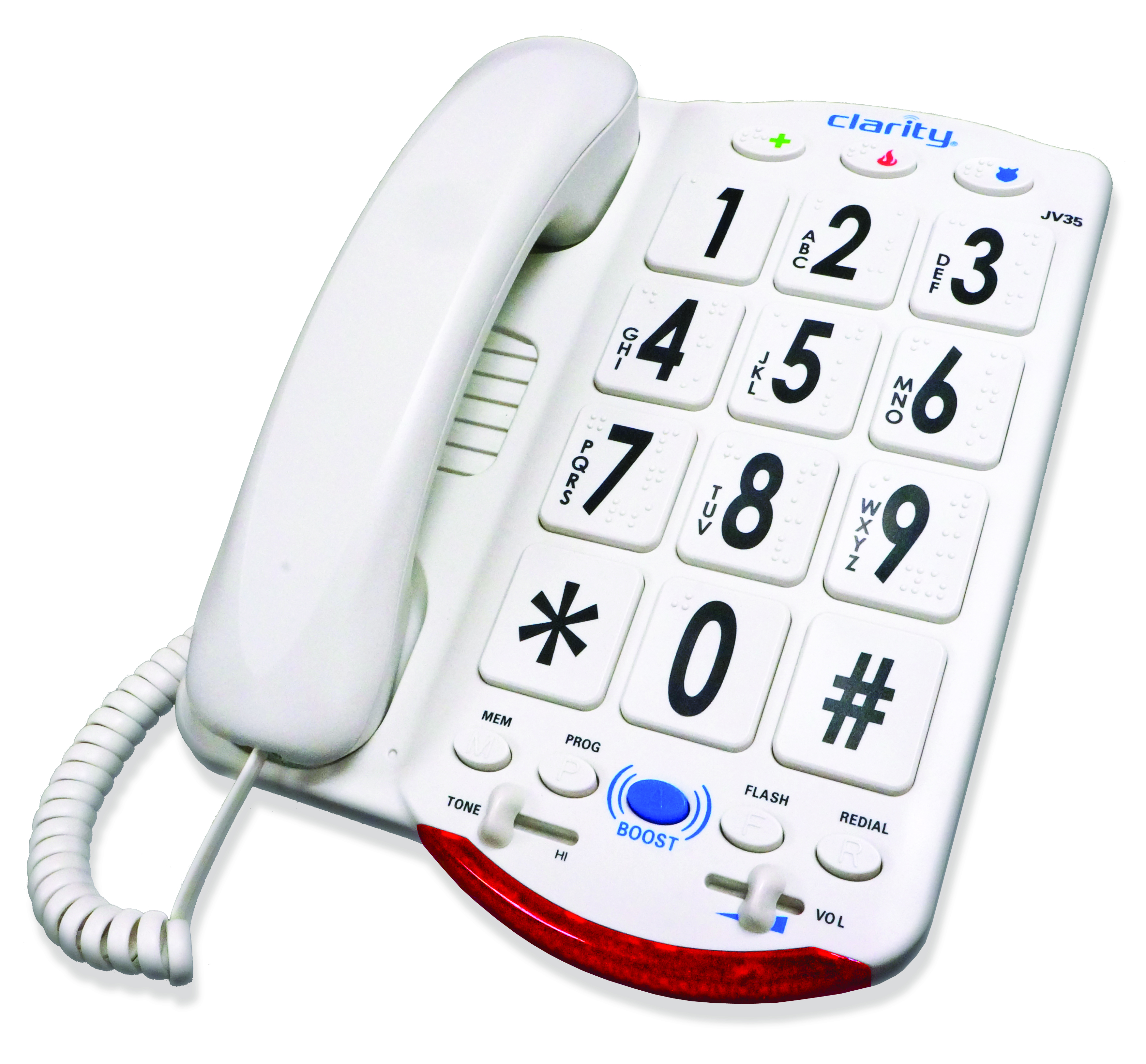 Image for Clarity Jv35W Amplified Telephone With Talk Back Numbers from Circuit City