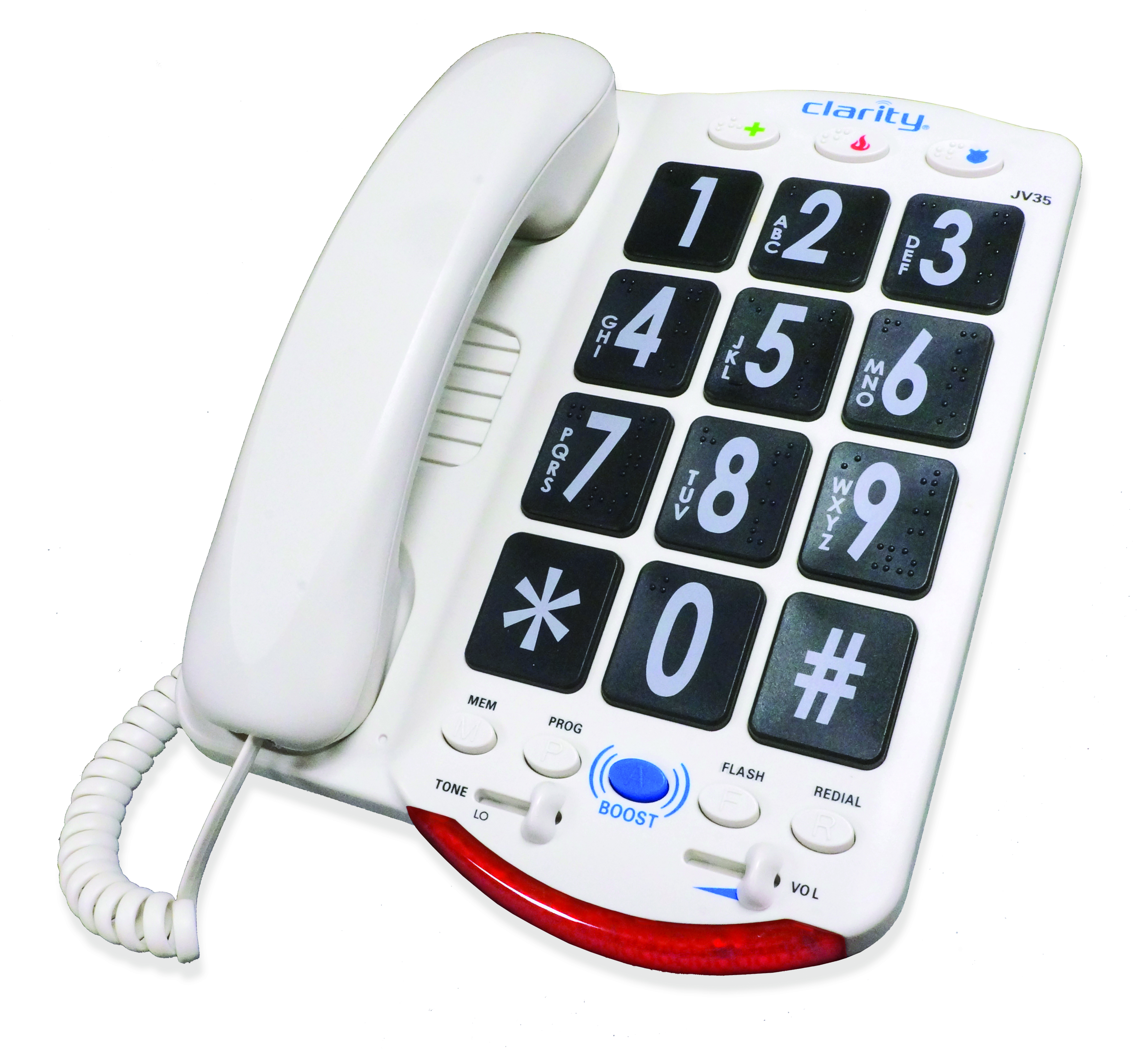 Image for Clarity JV35 Amplified Corded Phone with Talk Back Numbers from Circuit City