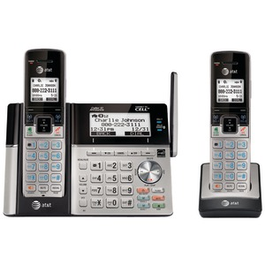 At&T - Cordless Phone - Answering System - Bluetooth Interface With Caller Id/Call Waiting + Additional Handset