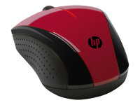 HP X3000 - mouse - 2.4 GHz - red