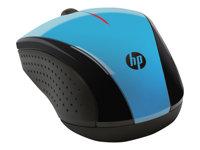 HP X3000 - mouse - 2.4 GHz - blue