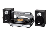 Jensen JTA-325 3 Speed Turntable with Stereo Speakers