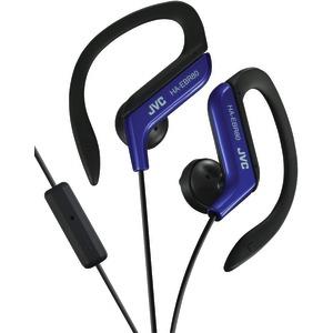 JVC HAEBR80A Sport Earclips w Mic Blue