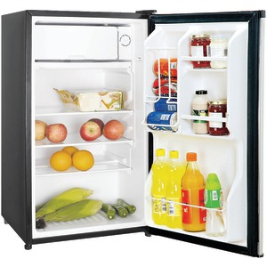 Magic Chef MCBR350S2 3.5 cu. ft. Mini Manual Defrost Refrigerator, Stainless Look