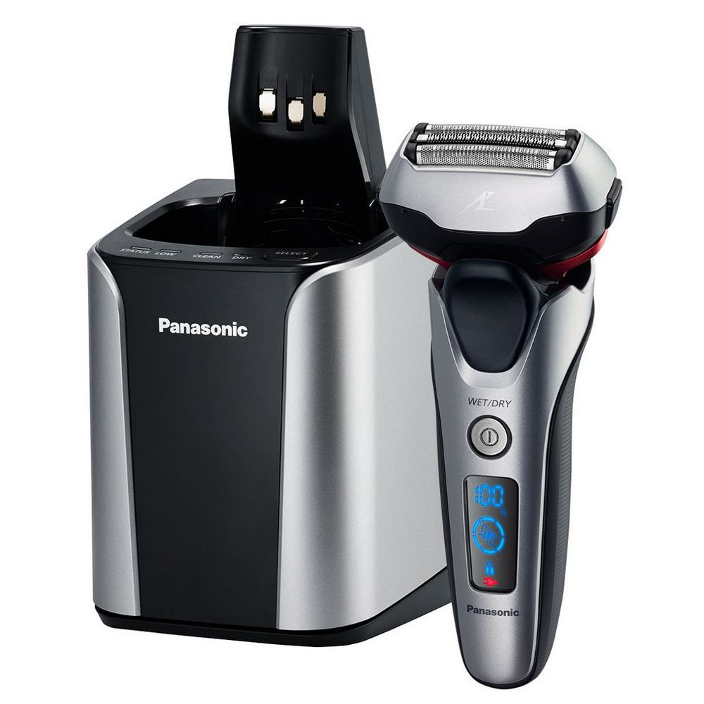 Panasonic ARC3 3-Blade Wet/Dry Electric Mens Shaver with Cleaning/Charge Station