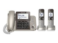 Panasonic - Corded/Cordless - Answering System With Caller Id/Call Waiting + Additional Handset