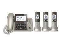 Panasonic - Corded/Cordless - Answering System With Caller Id/Call Waiting + 2 Additional Handsets