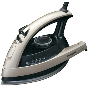 Panasonic NI-W810CS Multi-Directional Steam/Dry Iron with Ceramic Soleplate- champagne/clear gray with auto shut-off