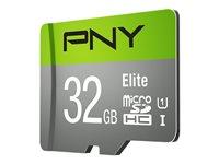 PNY Elite - flash memory card - 32 GB - microSDHC UHS-I