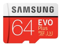 Samsung EVO Plus MB-MC64G - flash memory card - 64 GB - microSDXC UHS-I