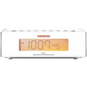 Sangean RCR-5 FM / AM Digital Tuning Clock Radio  - White
