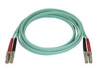 Startech 2m Aqua OM4 Duplex Multimode Fiber Optic Cable- 50/125 - LC/LC - network cable - 6.6 ft - aqua