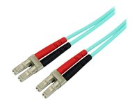 Startech 3m LC Fiber Optic Cable - 10 Gb Aqua - MM Duplex 50/125 - LSZH - patch cable - 10 ft - aqua