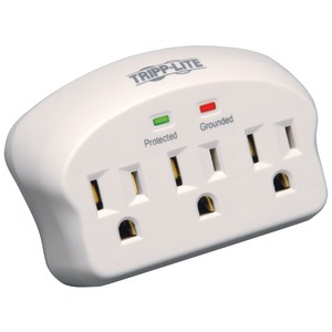 Tripp Lite Surge Protector Wallmount Direct Plug In 3 Outlet 660 Joules - surge protector - 1875 Watt