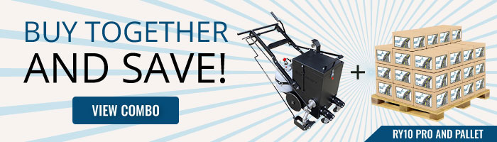 Buy the RY10 PRO Crack Seal Melter and a Pallet of Crackfiller and Save!