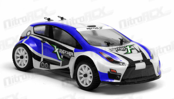 MICROX RACING SCALE RALLY CAR 2.4ghz BLUE