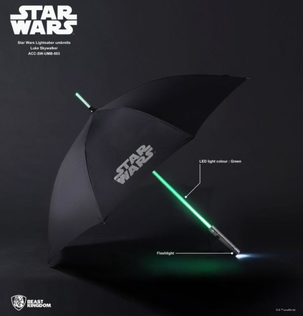 Star Wars Luke Skywalker Light Up Lightsaber Umbrella