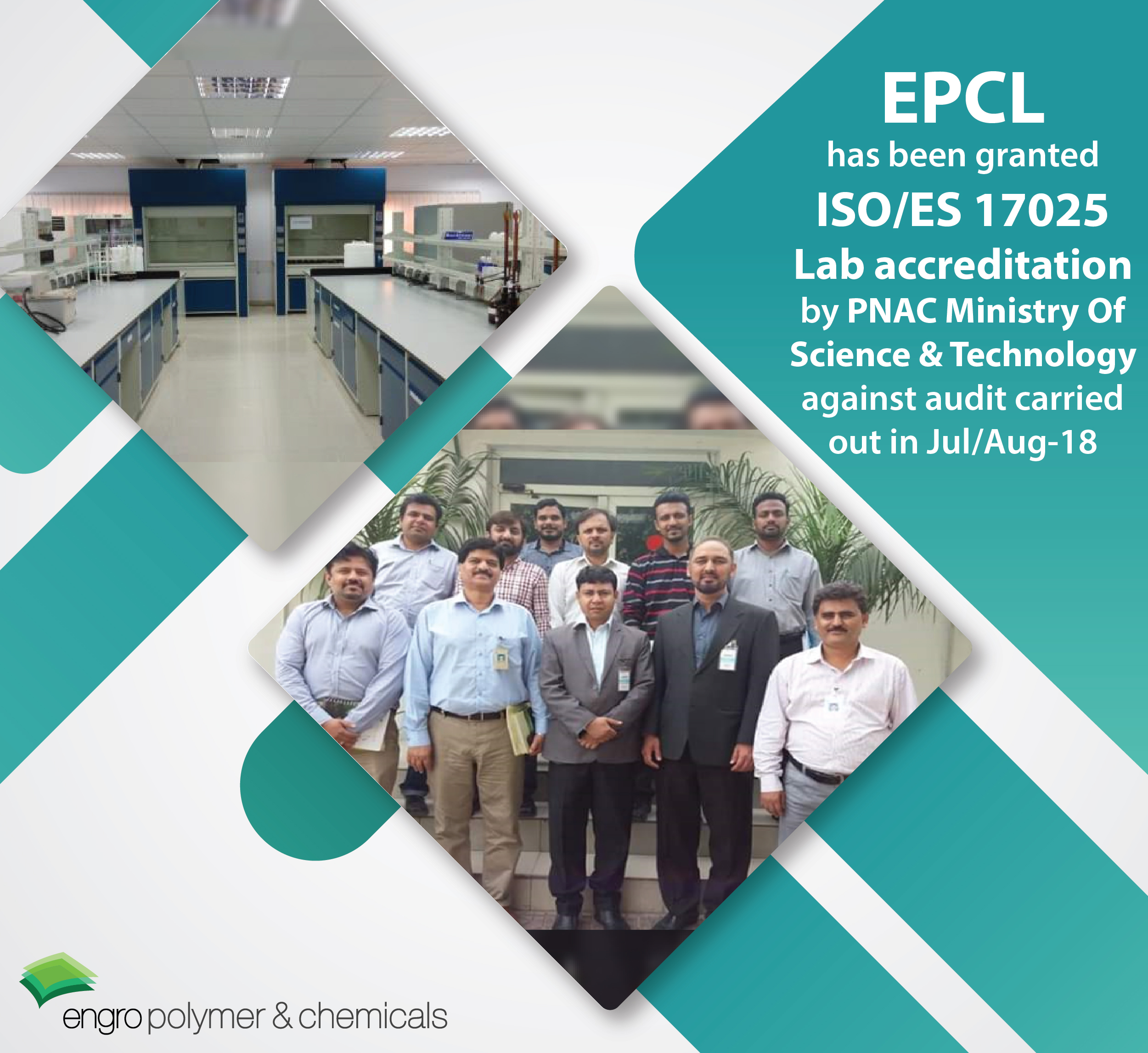 EPCL granted ISO/ES 17025 Lab accreditation