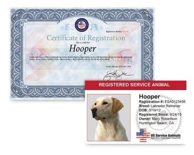 Service Animal - Registration