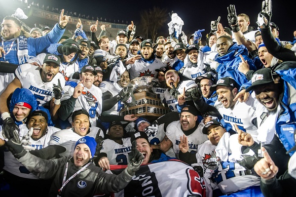 Montreal Carabins 2014 Vanier Cup Champions Group Photo