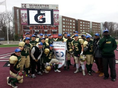 RECAP:  Hyman powers CFC#43 Gryphons to first ever OFSAA Bowl victory [stats]